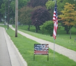 Kiwanis Flag Project Sign