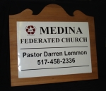 Medina Church Sign