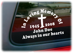 In Memory Decals